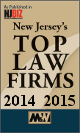 New Jersey's Top Law Firms 2014 and 2015