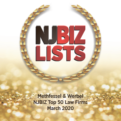 New Jersey Biz Lists Top 50 Law Firms - March 2020