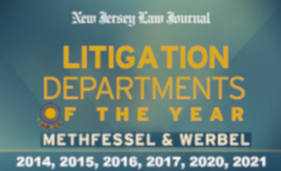New Jersey Law Journal Litigation Department of the Year